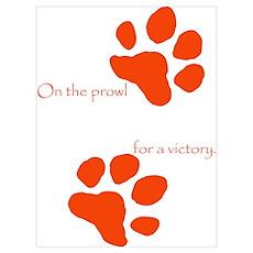 Tiger Paw Orange Poster