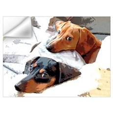 Naptime Dachshund Dogs Wall Decal