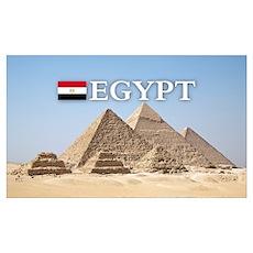 Giza Pyramids in Egypt Poster