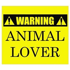 WARNING: Animal Lover Canvas Art