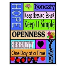 COLORED BLOCK SLOGANS Canvas Art