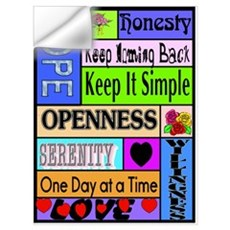 COLORED BLOCK SLOGANS Wall Decal