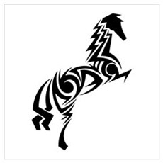 Tribal Horse Poster