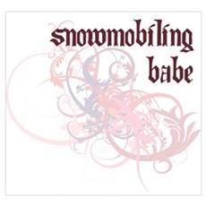 Snowmobiling Babe Poster
