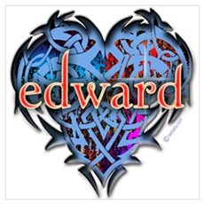 Edward Tattoo Heart Poster