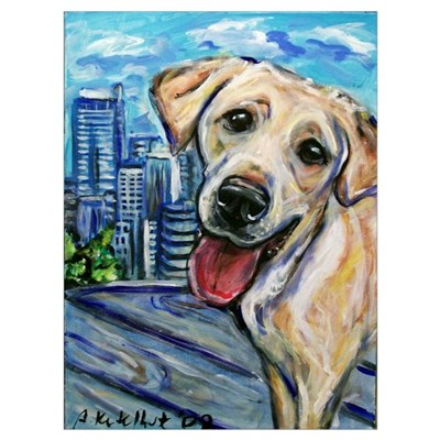 Downtown Dog Canvas Art