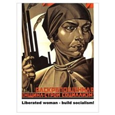 Liberated woman - build socia Poster