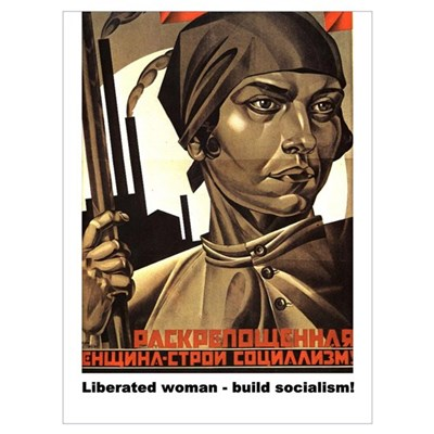 Liberated woman - build socia Framed Print