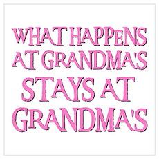 STAYS AT GRANDMA'S (pnk) Poster