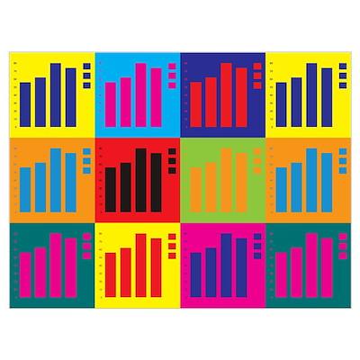 Statistics Pop Art Poster