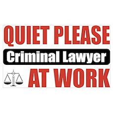 Criminal Lawyer Work Poster