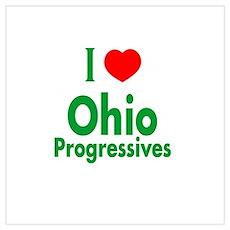 I Love Ohio Progressives Poster
