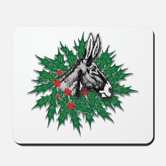 Donkey Christmas Mousepad