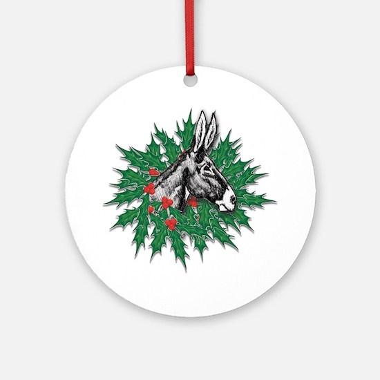Donkey Christmas Ornament (Round)