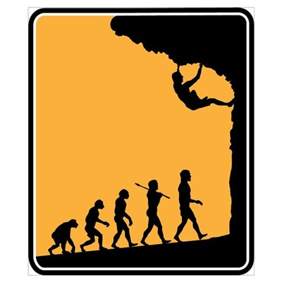 Rock Climber Poster