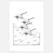 Geese Pen & Ink
