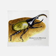 Hercules Beetle Throw Blanket