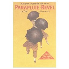 Vintage Umbrella Ad Print Poster