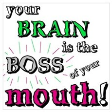 BOSS OF YOUR MOUTH Framed Print