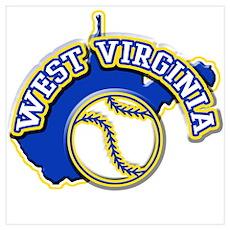 West Virginia Baseball Poster