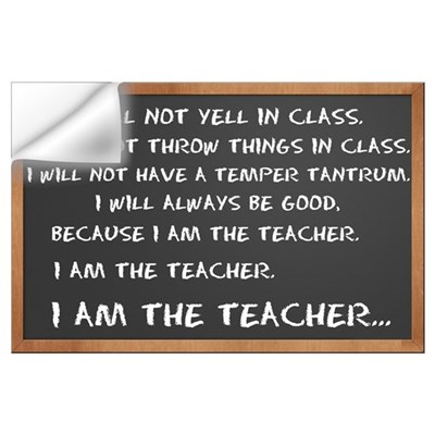 I AM THE TEACHER 1 Wall Decal