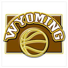 Wyoming Basketball Poster