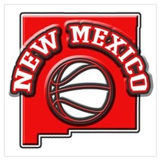 New Mexico Basketball Poster