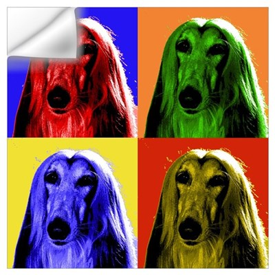 Afghan Hound Color Blocks Wall Decal