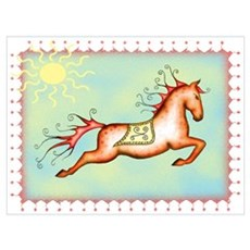 Sunny Sky Capriole Horse Poster