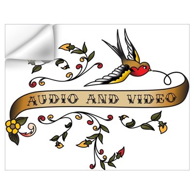 Audio and Video Scroll Wall Decal