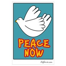 Peace Now Dove Poster
