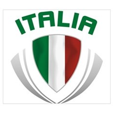 Soccer Crest ITALIA Canvas Art