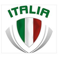 Soccer Crest ITALIA Poster