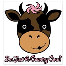 Country Cow Poster