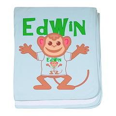 Little Monkey Edwin baby blanket