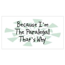 Because Paralegal Poster