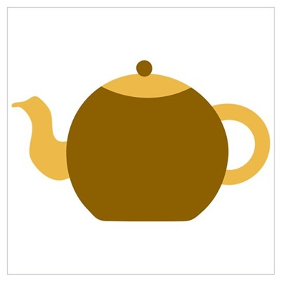 Brown Tea Pot Poster
