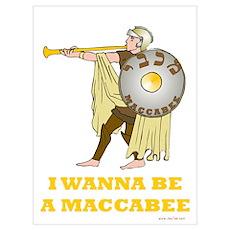 Wanna Be A Maccabee Hanukkah Poster