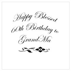 60th grandma birthday Canvas Art