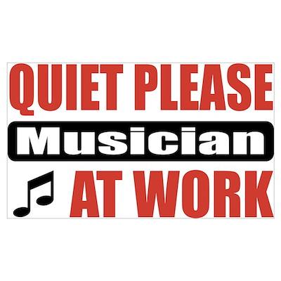 Musician Work Poster