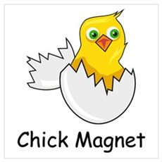 CHICK MAGNET Canvas Art