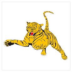 Tiger Attack Poster