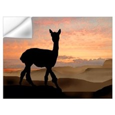 Alpaca Sunset Wall Decal