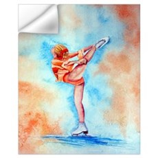 Peaches & Cream Ice Skate Wall Decal