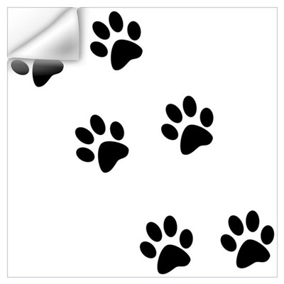 Walk-On-Me Pawprints Wall Decal