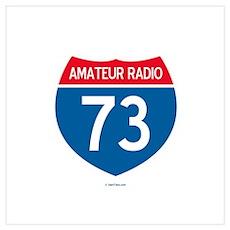 Amateur Radio Interstate Sign Poster