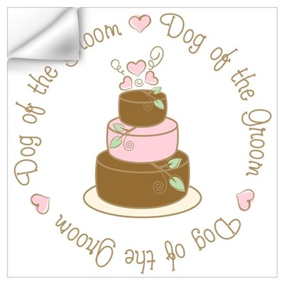 Dog of the Groom Cake Wall Decal