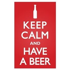 Keep Calm Have a Beer Poster