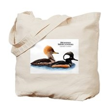 Hooded Mergansers Tote Bag