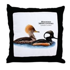 Hooded Mergansers Throw Pillow